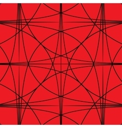 Black and red hypnotic background vector