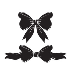 black-bows vector image