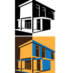 Block house vector