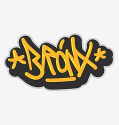 Bronx new york usa hip hop related tag graffiti vector