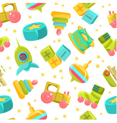 Children toys seamless pattern design element can vector