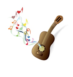 classical guitar brown vector image