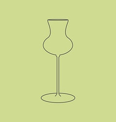 Cognac glass icon vector image