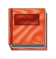 Color blurred stripe top view closed book vector
