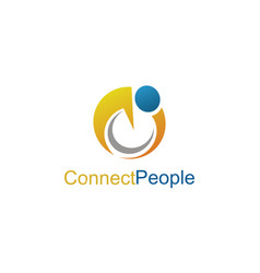 connect people logo vector image