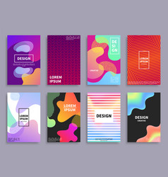 Creative design covers set vector
