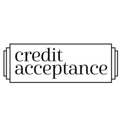 Credit acceptance stamp on white background vector