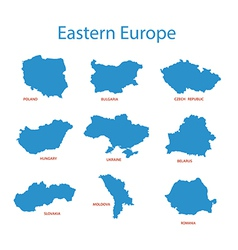 eastern europe - maps of territories vector image