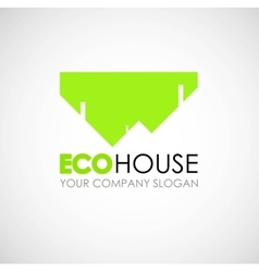 Eco house logo design Ecological construction vector image