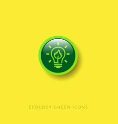energy saving technologies eco light icon vector image