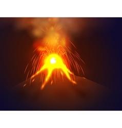 Eruption volcano vector