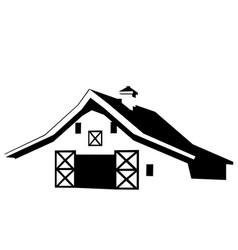 Farmhouse barn vector