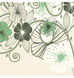 flowers and blots vector image