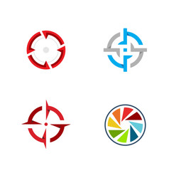 Focus icon design vector