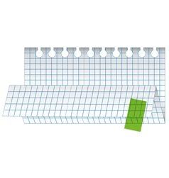 folded checked paper sheet vector image