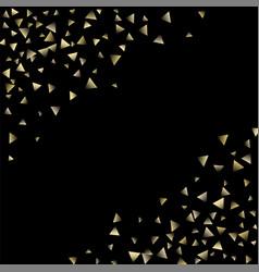 golden falling confetti triangles vector image
