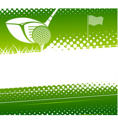 golf game background vector image