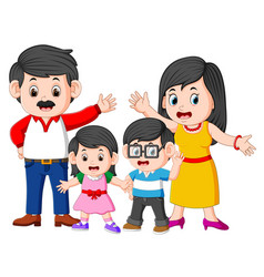happy family doing posing with the good expression vector image