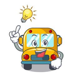 Have an idea school bus mascot cartoon vector