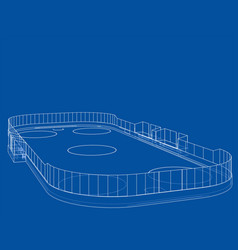 Ice hockey area outline vector