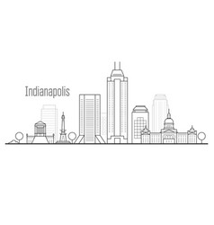 indianapolis city skyline - downtown cityscape vector image