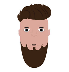 isolated hipster portrait vector image