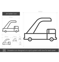 Jet ladder line icon vector