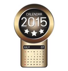 July calendar 2015 Fiber Background vector