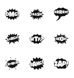 labelling icons set simple style vector image