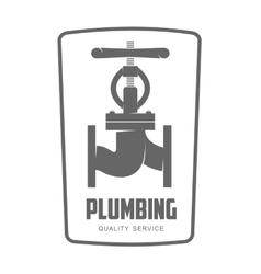 Logo water gas engineering plumbing vector