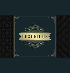 Luxury logo template golden vintage vector