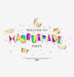 Masquerade in brazil bright background decorated vector