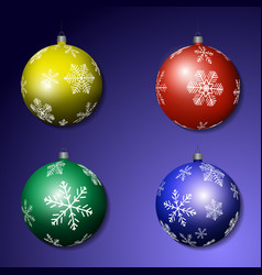 multicolored christmas balls vector image