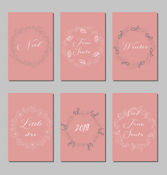 new year and merry christmas decoration set vector image