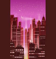 night city city scene skyscrapers towers vector image