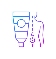 Ointment for back pain gradient linear icon vector