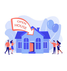 Open house concept vector