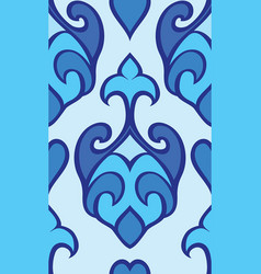 Oriental blue ornament vector