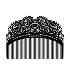 Ornate Comb vector