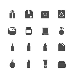 Package icons vector image