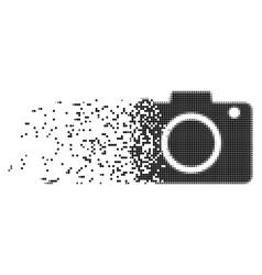 Photo camera broken pixel icon vector
