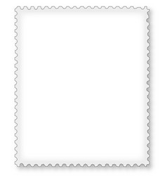 Postage stamp page border vector