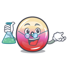 Professor jelly ring candy character cartoon vector