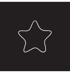 Rating star sketch icon vector image