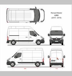 Renault master cargo delivery van l2h3 2014-2019 vector