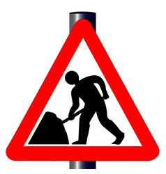 Roadworks traffic sign vector