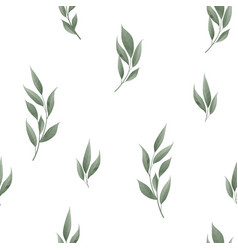 seamless leaves pattern design for banner poster vector image