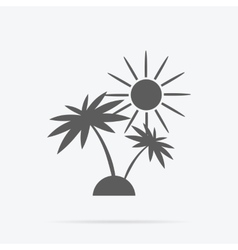 Silhouette of Palm Trees and Sun vector