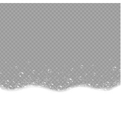 soap foam and bubbles on grey background vector image