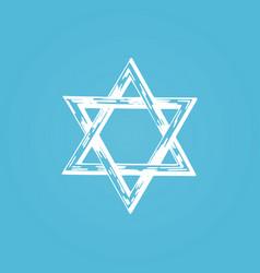 star of david hand drawn judaic vector image